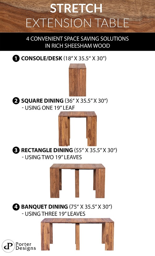 Urban Stretch Table Infographic