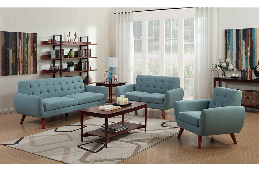 Daphne SWU6918 Teal Sofa, Love, Chair