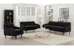 Betty Black Sofa, Loveseat & Chair, U7451 - LIMITED SUPPLY
