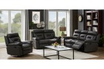 Paolo Gray Leather Reclining Sofa, Loveseat & Rocker Set, ML3712  - LIMITED SUPPLY