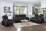COMING SOON, PRE-ORDER NOW! Optimus Black 2X Power Sofa w/ Drop Table, Console Loveseat & Recliner, M2P6781