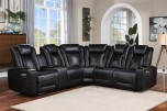 COMING SOON, PRE-ORDER NOW! Optimus Black 2X Power Reclining Sectional, M2P6781