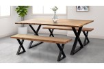 """Manzanita Natural 70"""" Dining Table with Different Bases, VCA-DT70N"""