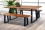 Manzanita Harvest Bench with Different Bases, VCS-BN60G