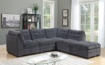 Morrison Charcoal Microfiber Sectional by Porter Designs