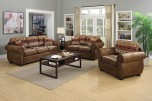 Hunter Chenille Wildlife Pattern & Leather-Look Poly Sofa
