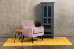 Kristina Blush Pink Accent Chair designed in Portland,Oregon by Porter Designs