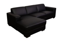 COMING SOON, PRE-ORDER NOW! Carrera Black Leather 2pc Sectional, L0198