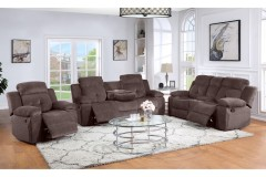 Embry Brown Reclining Sofa, Loveseat & Chair, M8081