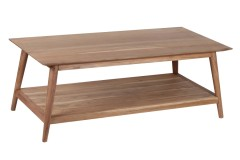 Portola Natural Coffee Table with Shelf, 2005-001NT