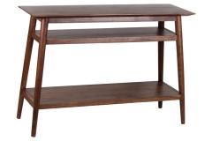 Portola Walnut Console Table with Shelf, 2005-002WW