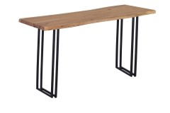 Manzanita Natural Console Table with Different Bases, VCA-CS58N