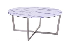 Pompei Round Marble-Look Coffee Table, 1881