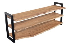 Crossover Live Edge Acacia Wood TV Stand by Porter Designs