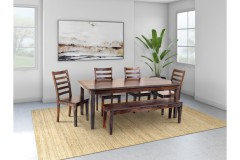 Sonora Midnight Dining Table, Bench & Chairs, ART-801-MNT