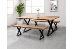 """Manzanita Natural 72"""" Dining Table with Different Bases, VCA-DT72N"""