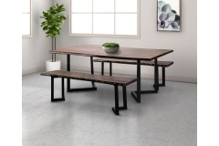 """Manzanita Midnight 72"""" Dining Table with Different Bases, VCS-DT72M"""