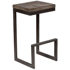 Cube Mango Wood & Metal Bar Stool by Porter Designs, designed in Portland, Oregon