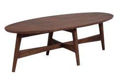 Baja Chestnut Mango Wood Oval Coffee Table by Porter Designs