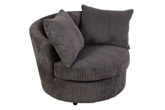 Big Chill Charcoal Swivel Accent Chair by Porter Designs