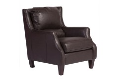 Garnett Brown Crackle Bonded Leather Accent Chair by Porter Designs