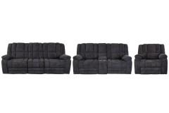 Knox Midnight Tweed Reclining Sofa, Loveseat & Chair, M5213