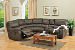Ramsey Rodeo Leather Look Poly Reclining Sectional by Porter Designs