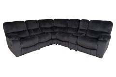 Ramsey Steel Beluga Reclining Sectional by Porter Designs