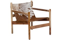 Genoa Real Cowhide Sling Accent Chair by Porter Designs, designed in Portland, Oregon