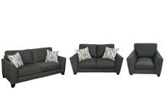 COMING SOON, PRE-ORDER NOW! Anders Dark Gray Sofa, Loveseat & Chair, U4140