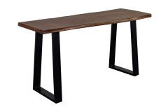 Manzanita Walnut Console Table with Different Bases, VCA-CS58W - LIMITED SUPPLY