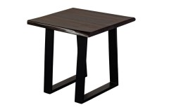 Manzanita Midnight End Table with Different Bases, VCS-ET24M
